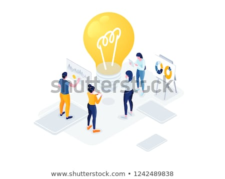 Business Idea Poster Man with Innovative Solutions Stock photo © robuart