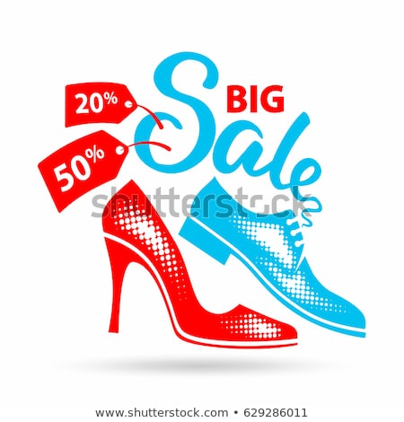 super sale special offer man vector illustration stock photo © robuart