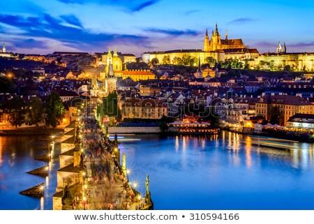 Landmarks of Prague in evening Stock photo © Givaga