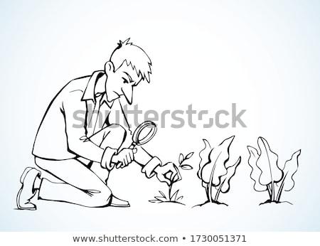 Organic search hand drawn outline doodle icon. Stock photo © RAStudio