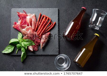 Snack fuet sausages with beer Stock photo © Alex9500