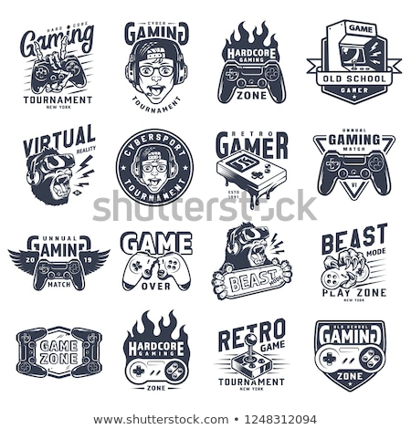 Vintage electronic gadgets emblems Stock photo © netkov1