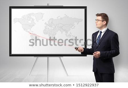 Empresário potencial negócio mapa bonito Foto stock © ra2studio