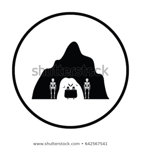 Scare cave in amusement park icon Stock photo © angelp