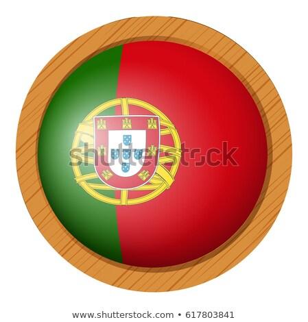Vlag houten frame illustratie hout ontwerp achtergrond Stockfoto © colematt