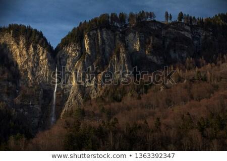 élevé cascade alpine paysages Suisse paysages Photo stock © lightpoet