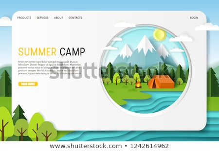 Summer camp concept banner header. Stock photo © RAStudio