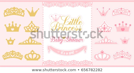 vector Little Princess icons frame Stock photo © VetraKori