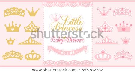 Stock photo: vector Little Princess icons frame