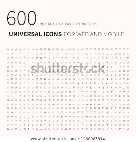 Proste uniwersalny ikona stronie Zdjęcia stock © makyzz