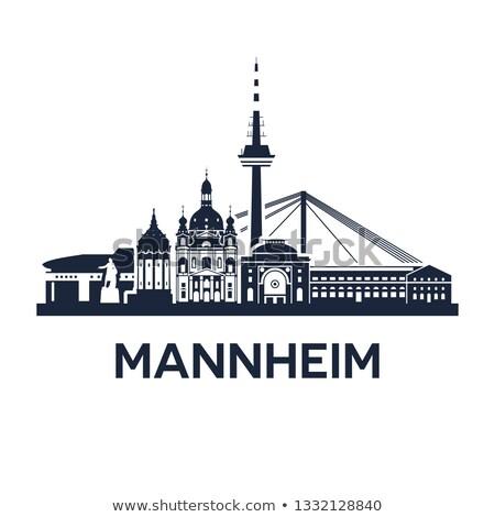 ufuk · çizgisi · amblem · şehir · Almanya · soyut · katı - stok fotoğraf © unweit