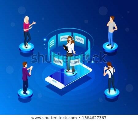 Technische ondersteuning online pagina web vector Stockfoto © robuart