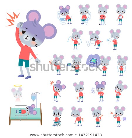Animale mouse set ragazzo lesioni Foto d'archivio © toyotoyo