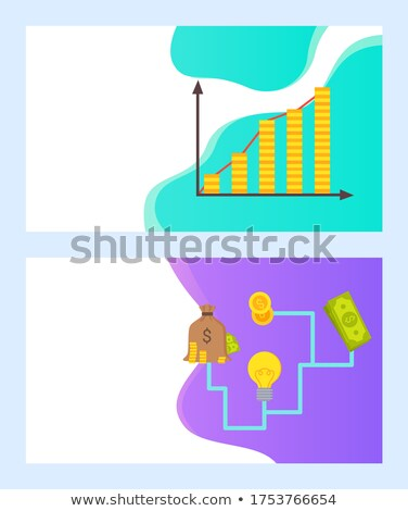 Crowdfunding Infochart Graphic with Money Web Stock photo © robuart