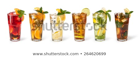 a glass with iced tea on a white background stock photo © zerbor