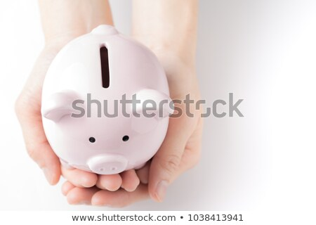 Family Putting Coin Into Piggy Bank On The Table Stock photo © AndreyPopov