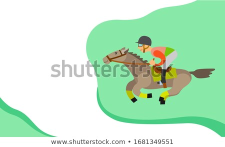 Horse Racing Website with Text, Equine Sports Stock photo © robuart