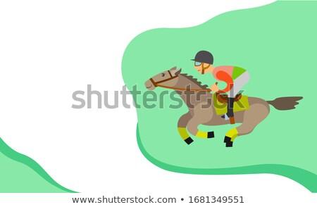 馬 · レース · 1 · ジョッキー · 男性 - ストックフォト © robuart