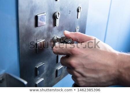 Human Hand Inserting Key To Unlock Elevator Stock photo © AndreyPopov