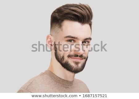 Vriendelijk aantrekkelijk bebaarde man toevallig Stockfoto © Giulio_Fornasar