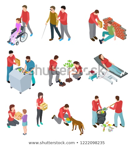 Volunteering Activists, Charity and Help Vector Stock photo © robuart