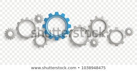 3D · engrenagem · verde · azul · camadas · internet - foto stock © sarts