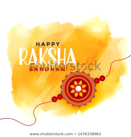 hindu raksha bandhan festival greeting card design Stock photo © SArts