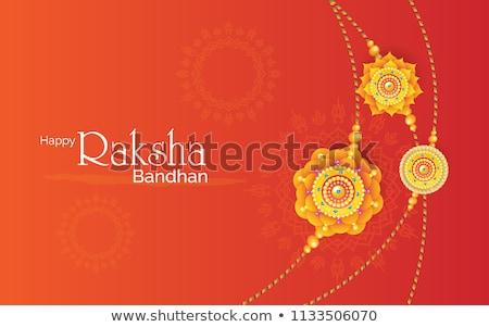 happy raksha bandhan traditional greeting card design Stock photo © SArts