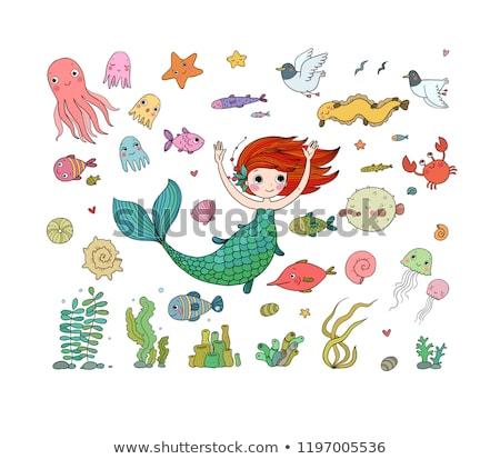Ingesteld geïsoleerde objecten kinderen illustratie gelukkig jongen Stockfoto © bluering