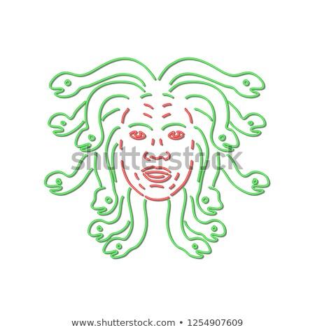 Head of Medusa Neon Sign  Stock photo © patrimonio