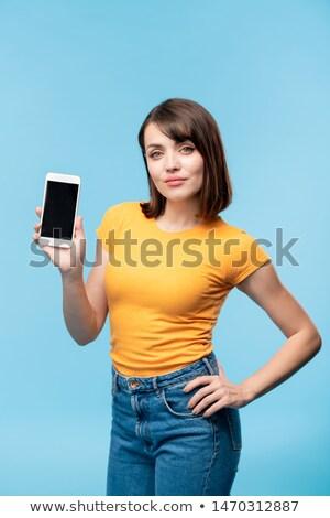 Annuncio notifica schermo smartphone Foto d'archivio © pressmaster