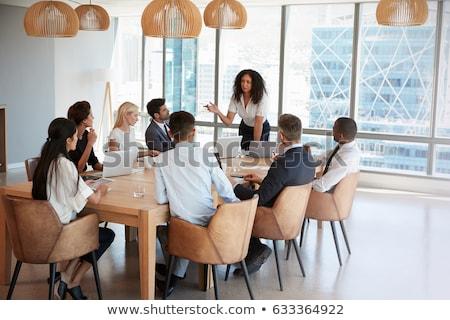 Iş adamları çalışma ofis tanıtım patron işadamı Stok fotoğraf © Freedomz