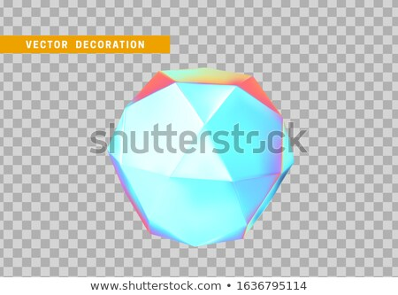 icosahedron - 3D geometric shape with holographic gradient isolated on white background vector Stock photo © MarySan