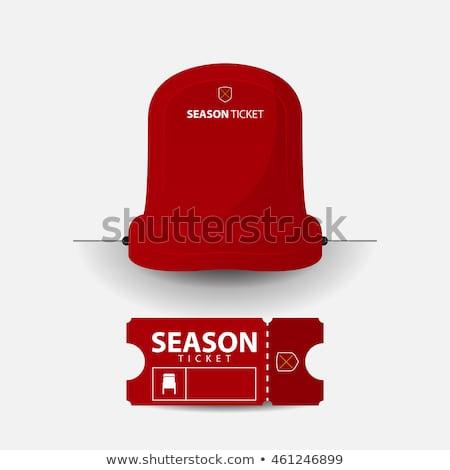 красный сиденье стадион пусто футбола Сток-фото © vichie81