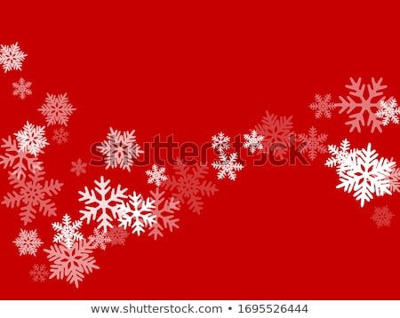 Christmas snowflakes scattered card for winter holidays Stock photo © SwillSkill