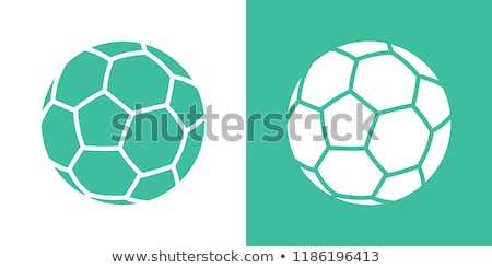 Soccer ball isolated on green background. Sport icon or design element. World or Europe championship Stock photo © Iaroslava