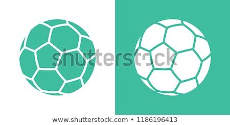 Futballabda izolált zöld sport ikon dizájn elem Stock fotó © Iaroslava