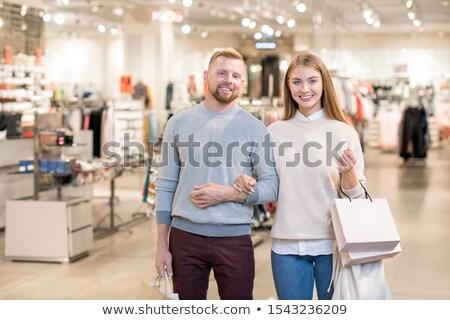 肖像 · カップル · ショッピング · を · ラップトップコンピュータ - ストックフォト © pressmaster
