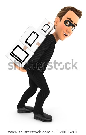 3D ladro cartone scatole Foto d'archivio © 3dmask