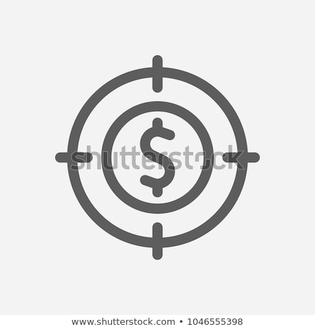 Target icon vector schets illustratie teken Stockfoto © pikepicture