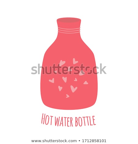 Ziek meisje heet water zak illustratie Stockfoto © adrenalina