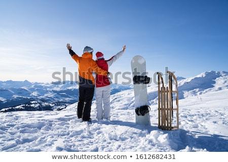 Permanente snowboard slee sneeuw boord Stockfoto © AndreyPopov