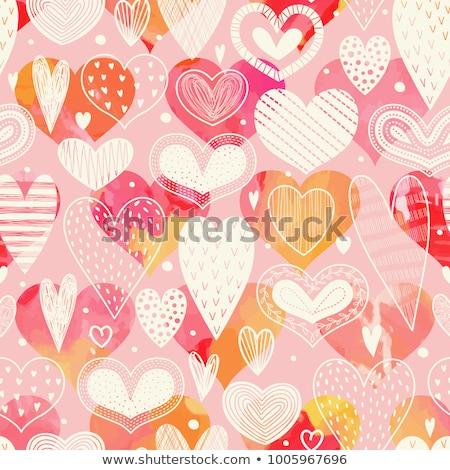 Senza soluzione di continuità amore pattern disegno rosso ripetibile Foto d'archivio © ukasz_hampel