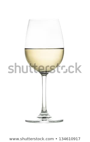 Wine alcohol drink bottle and glass of white wine. Stock photo © artjazz