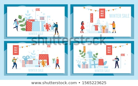 Christmas Sale Promotional Posters Set Offers Stock photo © robuart