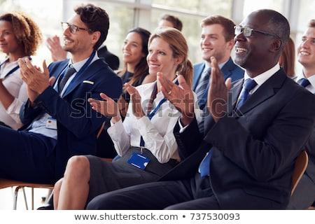 Vorderseite Ansicht aufmerksam Geschäftsleute arbeiten Stock foto © wavebreak_media