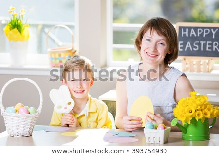 Boy with Easter eggs theme image 2 Stock photo © clairev
