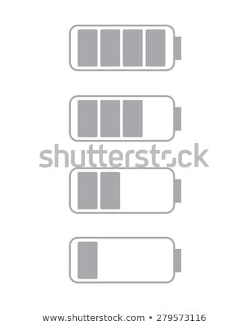 Photo stock: Morts · batterie · icône · vecteur · illustration
