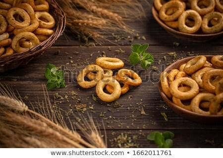 Gezouten zoute krakelingen klassiek snack stilleven zaad Stockfoto © grafvision