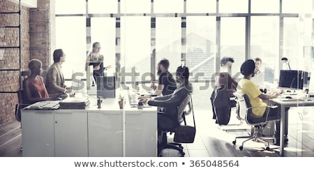 Businessmen in Office, Employee at Laptop and Boss Stock photo © robuart